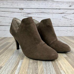 Me Too Cora Brown Ankle Booties Size 8.5